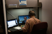 Translators provide live translation in 4 languages for committee members at the LEAD Conference in Silver Spring, Maryland, United States of America. (Photo: Brent Hardinge  / ANN)
